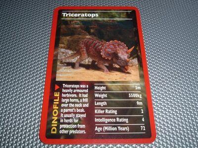 Toptrumps dinosaurs triceratops