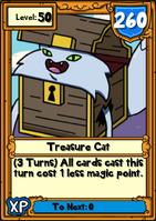 Treasure Cat Hero Card