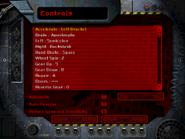 C3 controls menu