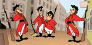 Redcoat troops
