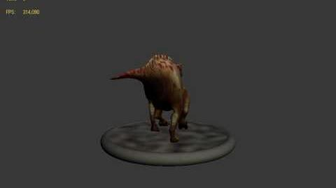 Carnivores Dinosaur Hunter Iguanodon walk animation