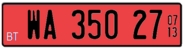 Temporary plates