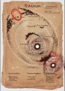 Onus star systems map - Haimm