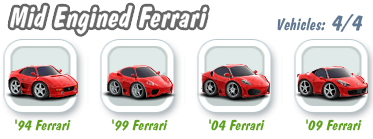 Mid Engined Ferrari Collection
