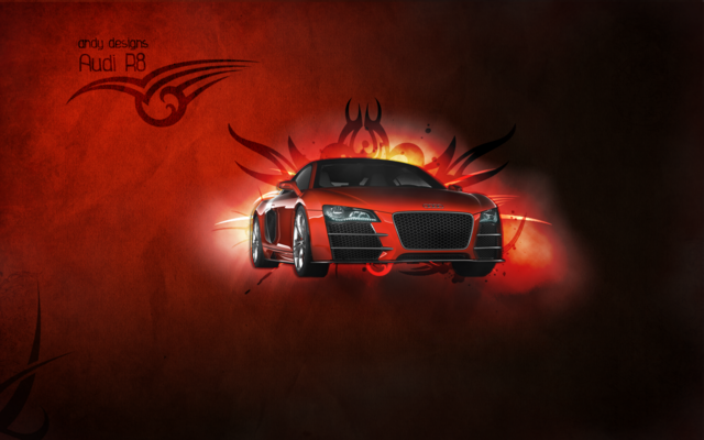 File:Audi R8 Tribal Wallpaper by AnDyGaM3R-1-.png