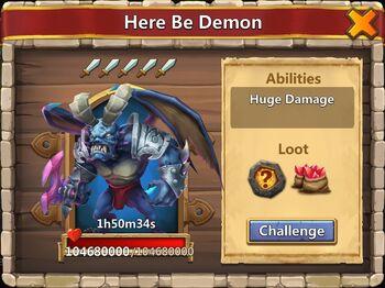 Demon challenge