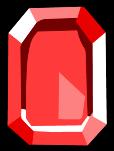 Square Red Gem