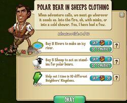 Polar Bear in Sheeps Clothing