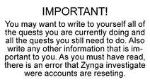 Important warning