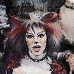 Marlene Danielle as Bombalurina on Broadway, 1984