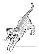 Stand stretch tabby lineart by wildpathofshadowclan-d2ywc8f