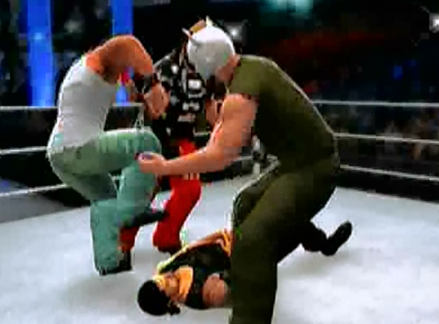 File:Roman Reigns is atacked by wyatts.PNG