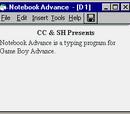 Notebook Advance