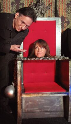 Suzi Perry and Simon Drake