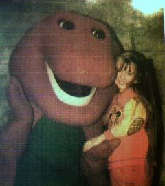 File:Chloë Agnew & Barney the dinosaur.jpg