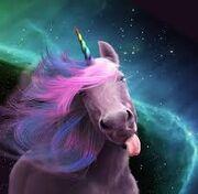 Unicorn selfie
