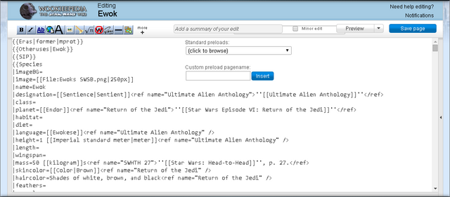File:Example of Wookieepedia interface obscured by javascript customization.png