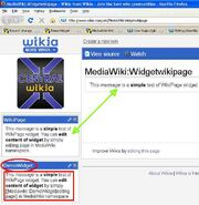 Check existence of source page before rendering wikipage widget - DOES NOT EXIST