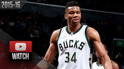 Giannis Antetokounmpo Triple-Double Highlights at Nets (2016.03