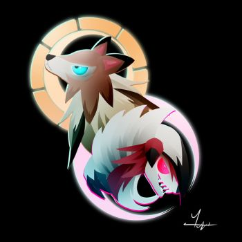 File:Lycanroc by ilona the sinister-daphb1n.jpg