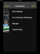 GTA Bookmark Screen iOS