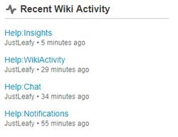WikiActivityModule