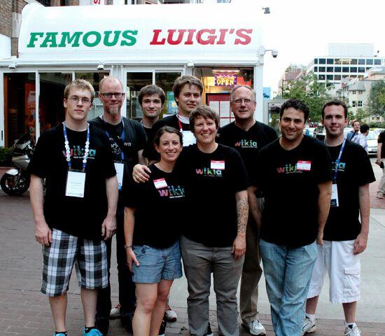File:Wikia team at wikimania.jpg