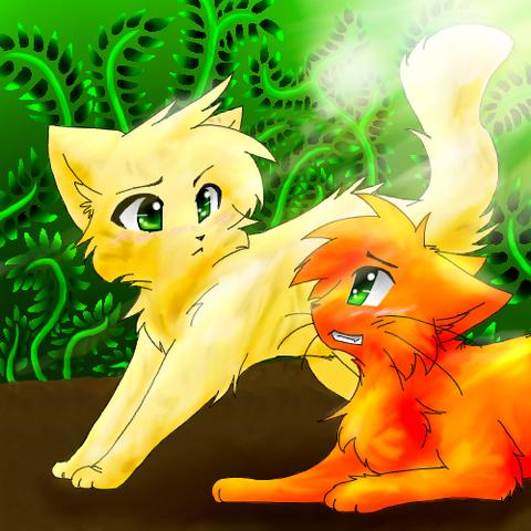 File:Firestar and sandstorm warrior cat by xoxeaglexox-d63a29r.png