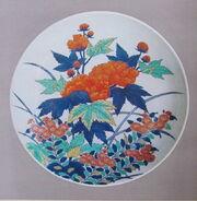 Floral Plate Nabeshima.JPG