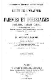Guide de l'amateur de faïences et porcelaines portada