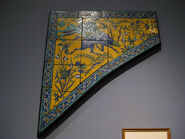 WLA lacma Tile panel for a spandrel Isfahan 17th century