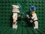 Hikaru training with Clone Jedi