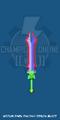 Medium Dark Fantasy Demon Blade (Colored)