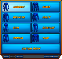 Choose Your Body Presets