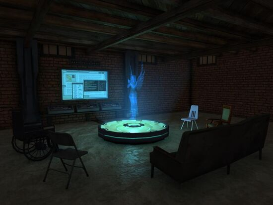 Basement - Social Area - Tech - Holographic Angel