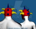Vigilante Skewerhelm (Head Wear) - Back