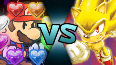 Paper Mario (Pure Hearts) VS Post-Genesis Archie Super Sonic (MM875)