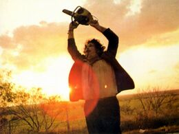 Leatherface walk out of sunset