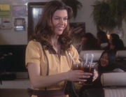 Patty as a waitress