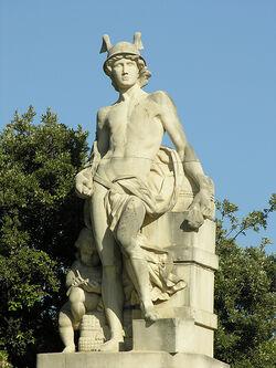 Mercury-statue