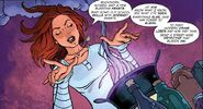 Paige casting a spell in the comic