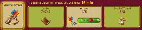Quiver of arrows recipe