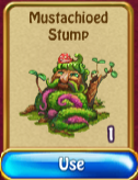 Mustachioed stump invent