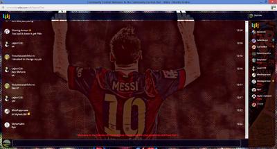 PrntScr Lionel Messi Chat Skin Full Screen