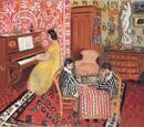 Pianiste et joueurs de dames
