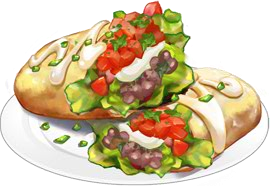 Recipe-Veggie Burrito