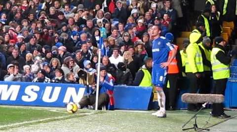 Lampard having a laugh with the Pompey fans