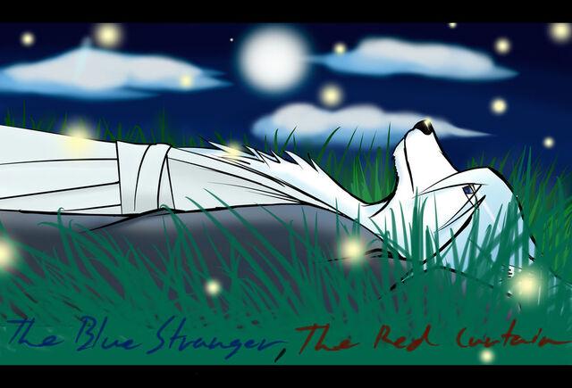 File:Blue stranger red curtain awake at night by iokusanagi-d5a8fye.jpg