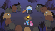 RD, Pinkie Pie, and Spike meeting Buffalo tribe and LSH S1E21