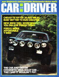 Car & Driver - Dec. 1976